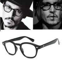Wholesale vintage johnny depp glasses for sale - Johnny Depp Glasses Frame Men Retro Vintage Brand Prescription eyeglasses Women Optical Spectacle glass Frame Clear lens glasses
