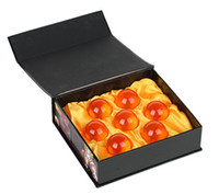 dragonball z yıldız seti toptan satış-Yeni Animasyon DragonBall turuncu 35mm Super Saiyan Dragon Ball Z Komple Set Kutusu oyuncaklar 7pcs / kutu yaklaşık 7 Yıldız