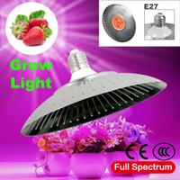 ufo led ışık kapalı toptan satış-Led ışık büyümek 30 W 40 W AC220V tam spektrum kapalı dikim için güneş ışığı E27 büyüme lamba yerine