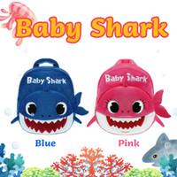 ingrosso zaini dei bambini gialli-19x7x23CM BABY SHARK Zaini per bambini Zaini per scuola Spalle Zaini SQUALI bimbo peluche Asilo infantile Sacchetti per libri Shark Baby Giallo