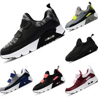 neues stoff für kinder großhandel-NIKE AIR MAX shoes Großhandel New Tiny 90er Leder und Stoff Breathable Laufschuhe Kinder 90 OG AirCushion und EVA Dämpfung Outdoor Athletic Shoes