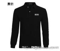 erkek düğmeler için tasarım gömlekler toptan satış-Erkek Tasarımcı T Gömlek Moda erkekler uzun Kollu Yaka Gömlek Boyun T-shirt Yaz Nefes Düğme Kazak T-shirt Erkekler Patchwork Tees Tops