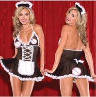 trajes de sexo xl al por mayor-Maid uniformes disfraces juego de rol de las mujeres más el tamaño de lencería sexy hot cosplay sexy underwear sex disfraces eróticos ropa de dormir