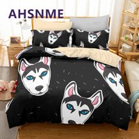 Wholesale vivid bedding sets resale online - AHSNME Vivid Husky Duvet Cover Pet Dog Bedding Set Little Puppy Bed Sets Cozy Children Adults Bedlinen Dropshipping