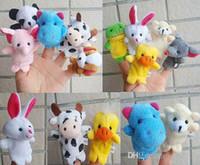 fantoches à venda venda por atacado-2019 nova venda quente! Expressar fantoches de dedo brinquedos de pelúcia falando adereços 10 animais diferentes conjunto de brinquedos para crianças do bebê