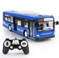 ingrosso autobus aperti-2.4G RC bus 6CH Telecomando City Bus Ad alta velocità Electric Open Door RC Bus modello con suono realistico e luce