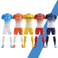 Wholesale numbered soccer jersey sets resale online - 19 New season Men Youth Football Kits Soccer Jerseys No any LOGO Football Shirt Sets Free Custom Name Number