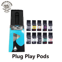 ingrosso pacco vaporizzatore cera-Plug Play Pod Vape Cartridge 1.0ml Capsule vuote ricaricabili in ceramica DNA ExoticThick Oil PLUGplay Atomizzatore per vaporizzatore per kit batteria penna Vape