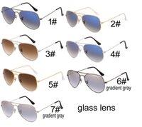 blaue männer sonnenbrillen rahmen großhandel-Sommermann-Steigungsblau Sonnenbrillen draußen Arbeiten Sie die Metallrahmenfrauen um, die Sonnenbrille GLAS-OBJEKTIV 7colors KEIN KASTEN freies Verschiffen fahren
