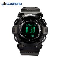 relogios relógios digitais venda por atacado-SUNROAD Esporte Relógio À Prova D 'Água Digital Altímetro Barômetro Bússola Termômetro Meteorologia Pedômetro Relógio Reloj Hombre