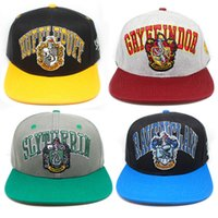 Wholesale Harry Potter hats Hogwarts Baseball Hat Adult Cotton Ball Snapback Caps Adjustable Hip Hop Hats Boys Girls Cosplay Gift