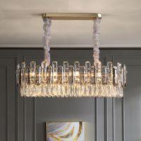 Wholesale traditional kitchen lights resale online - New design high end pendant chandelier lights with luxury K9 crystal for living room bedroom creative hanging chandeliers lighting fixture