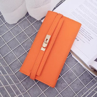 Wholesale cute simple wallets for sale - Group buy Fashion mode pu fashion simple style accordion wallet in pu leather Most popular cute plain purse