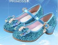 zapatos de tacón bajo para niñas al por mayor-Bebé Princesa Niñas Zapatos Sandalias Para Niños Brillo Mariposa Bajo Talón Niños Zapatos Niñas Fiesta Enfant meisjes schoenen WL479