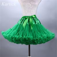 Wholesale pink petticoat for girls resale online - New Petticoats Wedding Bridal Crinoline Lady Girls Women Underskirt for Party Soft Tulle Ruffled Ballet Dance Skirt