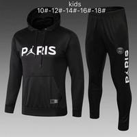 d7c8f3c3f37c7 Survêtement PSG nouveau 2018 2019 KIDS soccer training 18 18 MBAPPE CAVANI  maillot de foot Paris à capuche enfant Sportswear