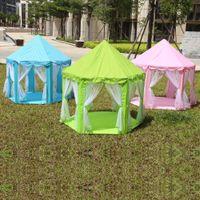 ev prensesi kale toptan satış-Plaj Açık Kamp Kamping Playing Çocuklar Komik Taşınabilir Çadır For Baby Oyun Çadırları prenses kale Çocuk Çadır Oyun Evi