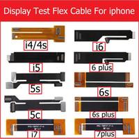 iphone tester flex toptan satış-3D dokunmatik ekran lcd ekran testi Genişletilmiş esnek kablo iphone 4 4 s 5 5 s 5c SE 6 6 S 7 ARTı Sayısallaştırıcı tester flex şerit Kablo