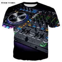 led t shirt wholesale 2021 - YX GIRL fashion Sound Activated LED T Shirt Light Up and down Flashing Equalizer EL T-Shirt Men for Rock Disco Party DJ T shirt