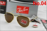 ingrosso ray ben-2019 Ray Aviator Vintage Sunglasses Pilot Uomo Donna 58mm 62mm Bans UV400 Polarized Band Mirror Glass BEN Occhiali da sole con custodia