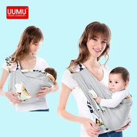 Wholesale baby carry seat resale online - UUMU Cotton Sears New Born Baby Wrap Carrier Backpack Sling Gear Maternity Nursing Carrying Belt Holder No Hip seat Kangaroo