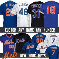 keith hernandez camisa venda por atacado-20 Pete Alonso Costume New York Men Mets camisa 7 Marcus Stroman 48 Jacob deGrom 17 Keith Hernandez 18 Darryl Morango Camisas De Beisebol