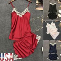 745fdb30a 2019 Novo 2 pcs Mulheres Senhoras Sexy Lingerie Sleepwear Babydoll G-string  Roupa Interior Noite Vestido Preto Vermelho azul Amarelo
