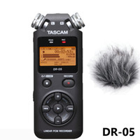 Wholesale free voice recorder micro resale online - TASCAM DR Portable Digital Voice Recorder Audio Recorder MP3 Recording Pen Version with GB micro SD deadcat as free gift