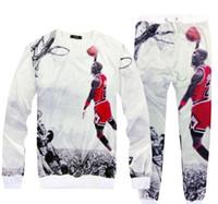 ingrosso vestiti sportivi da jogging per gli uomini-Jogging Espressione Pantaloni di sport degli uomini giacca e pantaloni Donne Fitness Jogers Uomo volare pallacanestro vestiti di allenamento
