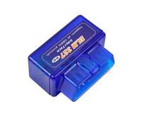 carprog audi оптовых-Супер МИНИ ELM327 Bluetooth ELM 327 Версия V2.1 Белый ELM327 интерфейс OBD2 / OBDII для системы Android 327 OBD2 Диагностический инструмент