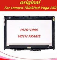 fhd ekranı toptan satış-Orijinal için Lenovo Thinkpad Yoga 260 20FD0002US FHD Dokunmatik Ekran LCD Ekran Montaj + Bezel