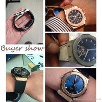 kahverengi saat kayışları toptan satış-HUB İzle için hakiki Deri Watchband Kauçuk Silikon Watchstrap Adam Kayış Siyah Mavi Kahverengi Su Geçirmez 25x19mm Dağıtım Toka 22mm