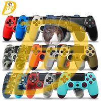 controlador de playstation bluetooth al por mayor-Controlador inalámbrico Bluetooth PS4 para PS4 Vibration Joystick Gamepad Controlador de juegos PS4 para controlador Sony PlayStation 4 Con caja al por menor