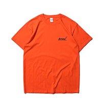ingrosso arrow camicie-Maglietta Soild 2019 della maglietta di Soild degli uomini della freccia di ADER stampata maglietta casuale del cotone di base degli uomini di Hiphop Streetwear per estate