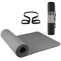 Wholesale yoga mat carry bag resale online - 72x24IN Non slip Yoga Mat Eco friendly Fitness Pilates Gymnastics Mat Gift Storage Bag and Carry Sling