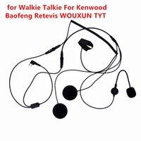 kask walkie talkies kulaklıklar toptan satış-Kenwood için Baofeng Retevis 2 Pim Parmak PTT Kulaklık Walkie Talkie Motosiklet Kaskı Mikrofon İçin TYT İki Yönlü Radyo İçin