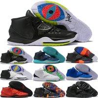 golf vi toptan satış-2019 Yüksek kalite Kyrie6 VI Taco Brooklyn Siyah Turuncu Basketbol Ayakkabıları Irving 6 s Erkek Eğitmenler Kyrie Renkli Spor Sneakers Boyutu 40-46