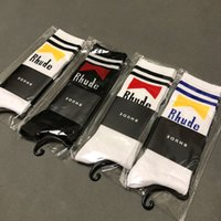 kadın için havlu çorapları toptan satış-RHUDE Çorap Erkek Kadın Çorap Kore 2019SS RHUDE Sokak Moda Serin Sokak Moda Kanye West Sezon 7 Havlu RHUDE Çorap