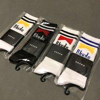 männer socken korea großhandel-RHUDE Socken Männer Frauen Socken Korea 2019SS RHUDE Street Fashion Coole Street Fashion Kanye West Saison 7 Handtuch RHUDE Socken