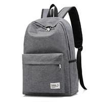 mochilas coreanas para homens venda por atacado-2019 Unisex Oxford mochila dos homens da Faculdade Coreano Bagpack Grande Capacidade Mochila Laptop de Alta Qualidade Feminina Preto Saco de Escola