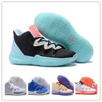 spor ayakkabıları topu toptan satış-Orijinal Irving Sınırlı 5 Erkek Kyrie Basketbol Ayakkabıları 5 s Siyah Sihirli Kyries chaussure homme de basket ball Eğitmenler için Sneakers 40-46