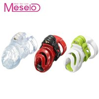 Wholesale anti vibrators for sale - Group buy Meselo Peins Cage Male Sm Chastity Devices Cock Lock Ring With Rings Sex Toys For Men Plastic Anti off Bondage Ring Gay Toy Y190713