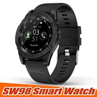 ingrosso bluetooth u8-Nuovo Smart Watch SW98 Bluetooth Smart Watch HD Screen Motor Smartwatch con pedometro Fotocamera Mic per Android IOS PK DZ09 U8 in scatola