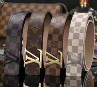 ingrosso modelli di design della cintura di cuoio-doppia catena fibbia cinghie degli uomini di moda di alta qualità cinture di marca importati vero modello in pelle di rospo disegno della cinghia del progettista con