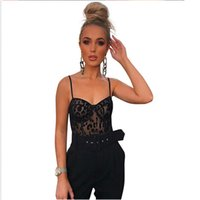 Wholesale garment bodysuits for sale - Group buy New Ladies Winter Bodysuits Playsuits Women s Shoulder Sexy Lace Strap Perspective Mesh NEW Garment Sexy Lace
