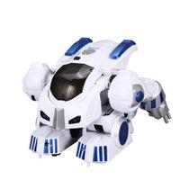 Wholesale dancing toy remote for sale - Group buy K4 Intelligent Fingerprint Deformation Police RC Robot Walking Dancing Saying Sliding Kid Remote Control Toy Gift