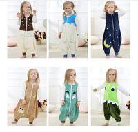 2d8bc66c07d5 Wholesale sleeping jumpsuits for sale - Baby winter Pajamas Ins Sleep Bag  Children Sleeveless Sleepsuits Winter
