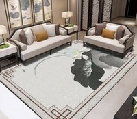 Wholesale lotus wallpaper home for sale - Group buy PVC Self Adhesive Waterproof D Floor Murals Ink painting lotus Photo Wall Paper Sticker Bathroom Kitchen Home Decor Papel De Parede