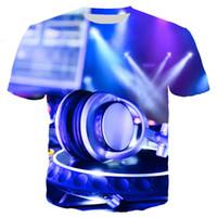 imagens de led lighted venda por atacado-2019 nova venda quente som imagem 3d impresso led camiseta light up e down piscando t-shirt dos homens para a rocha do partido de discoteca dj top tee 5xl
