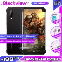 Wholesale big screen android mobile phones for sale - Group buy Blackview BV6100 quot Big Screen IP68 Waterproof Smartphone MTK6761 Quad Core Android GB GB NFC Mobile Phone mAh